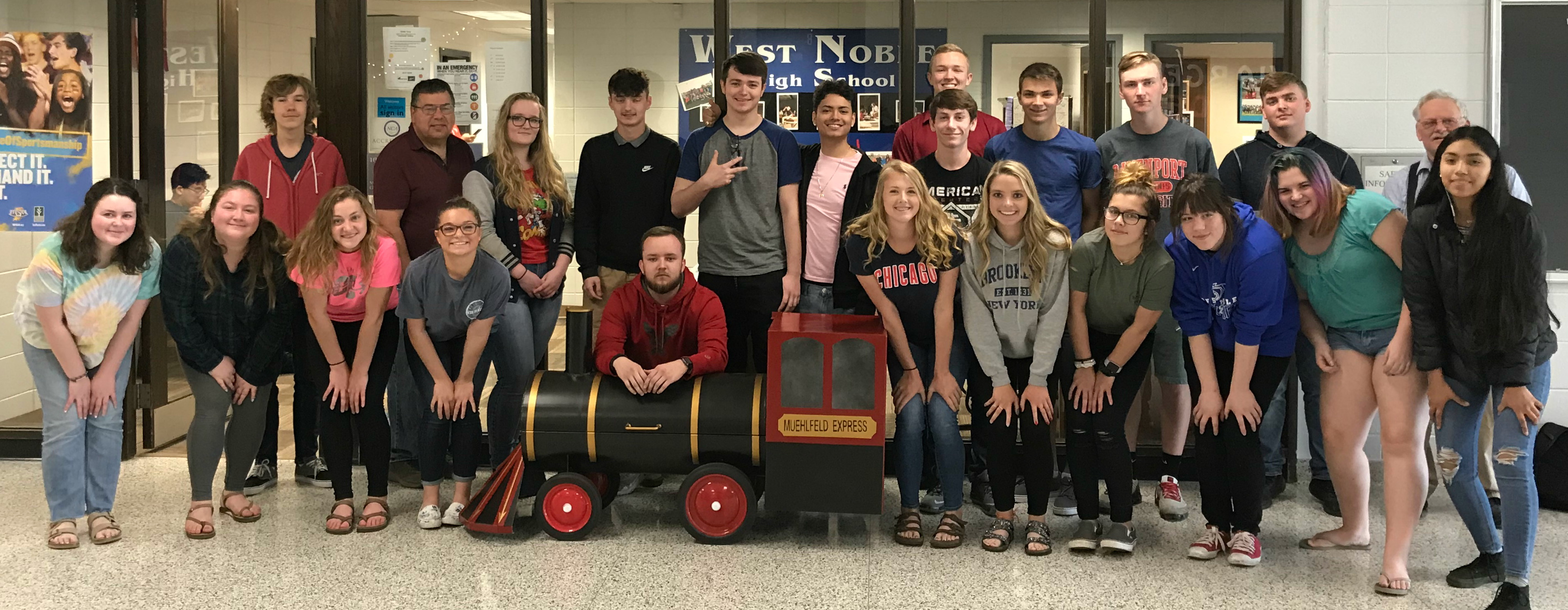 Students build train grill