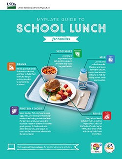 My plate guide to School Lunches