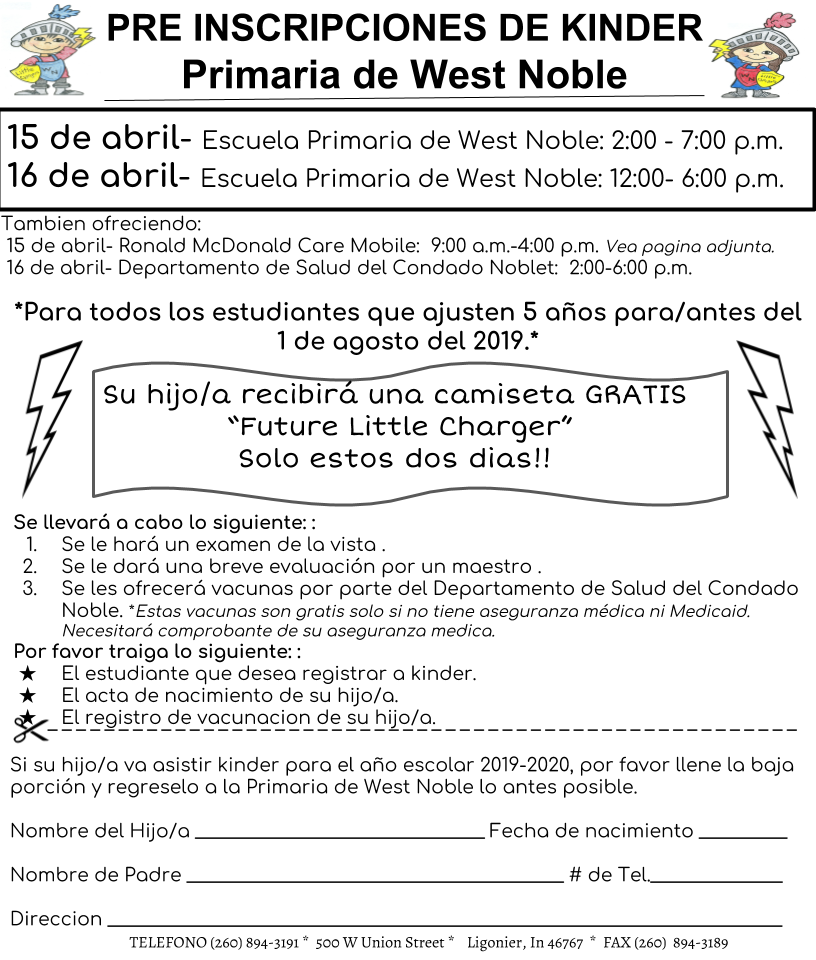 Enrollment - spanish