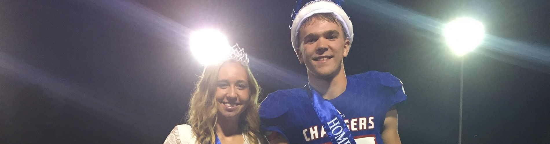 Megan and Chase, homecoming queen and king.