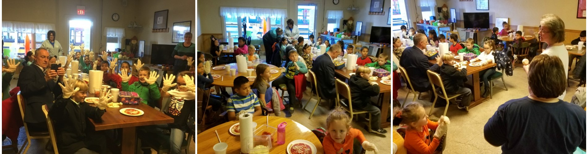 Field trip to Vinee's Pizza for 1st-graders.
