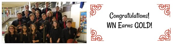 Orchestra members earn gold.