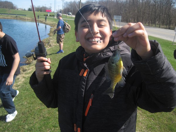 Another Charger Fishing Club member, Jose, with his first fish.