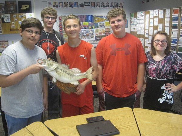 Newly organized Charger Fishing Club Leadership Committee.