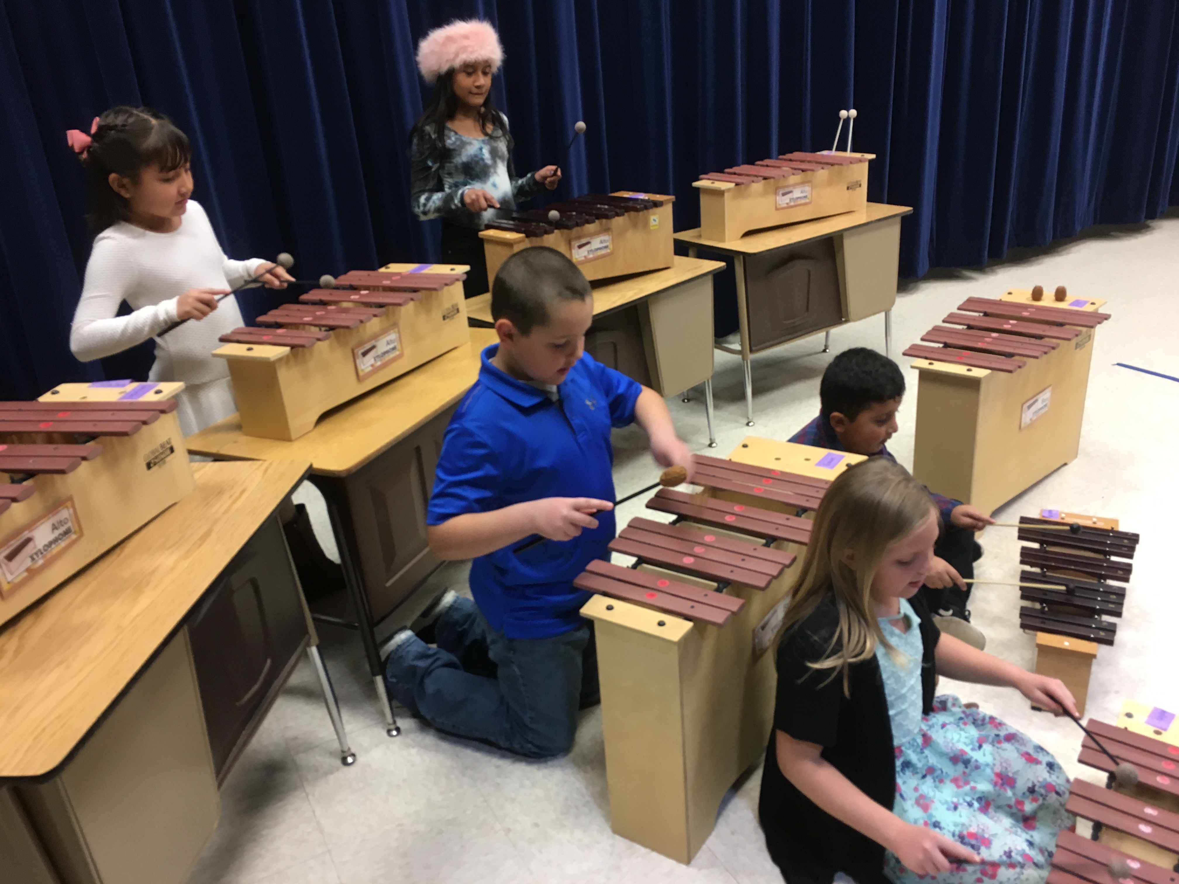 Various pictures of the 3rd grade Music and Art Program.
