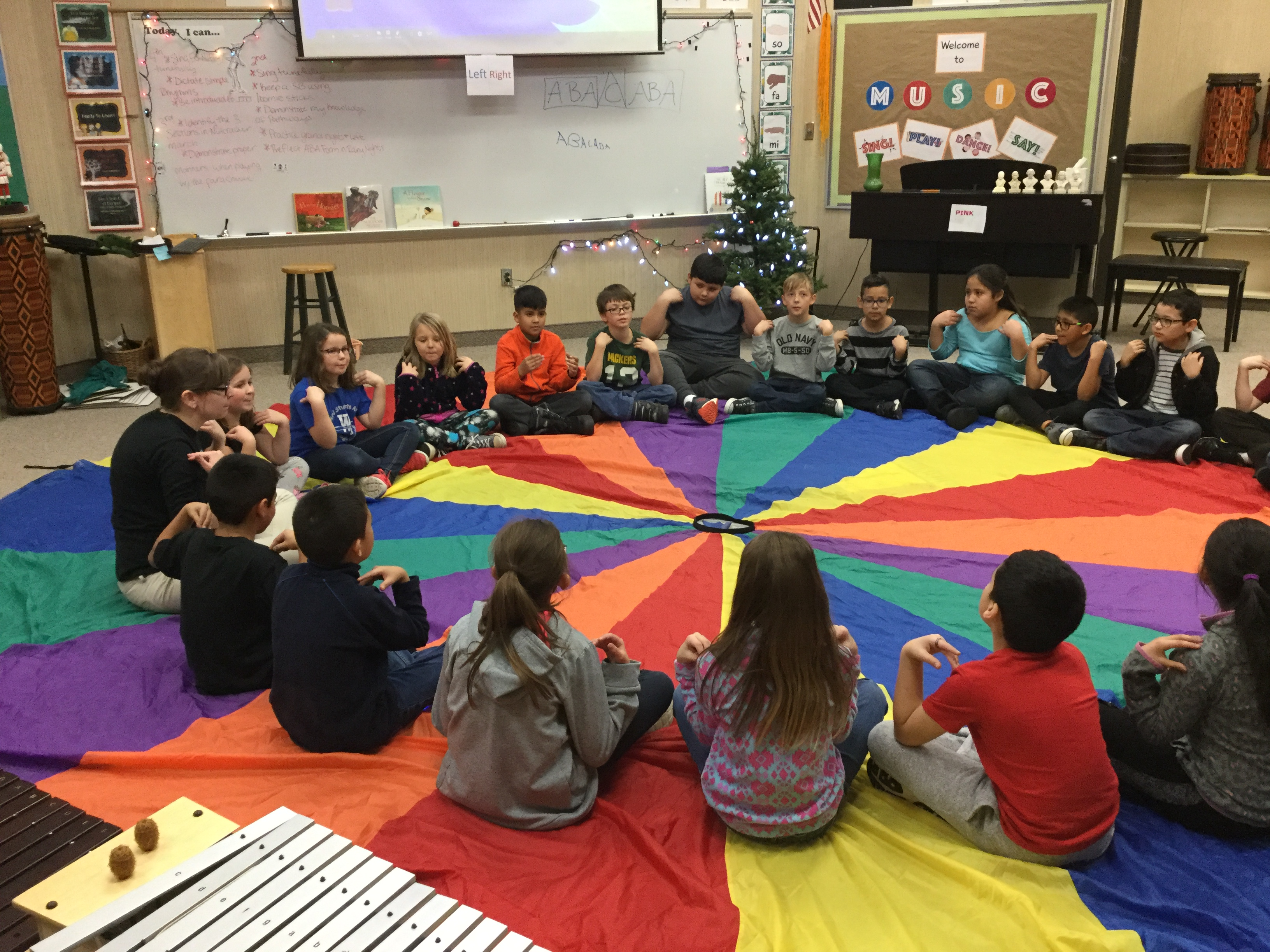 3rd graders learning about musical form in Mrs. Hostetler's music class.