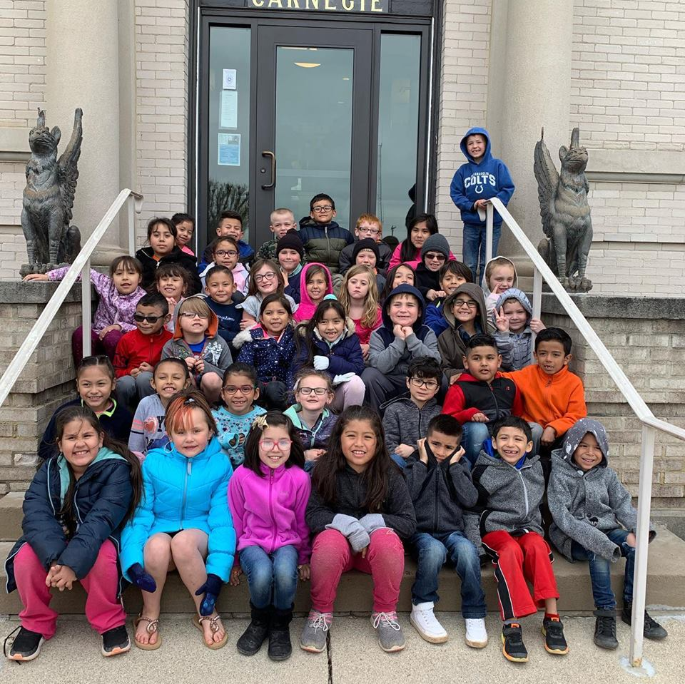 First Graders Visit the Ligonier Public Library.