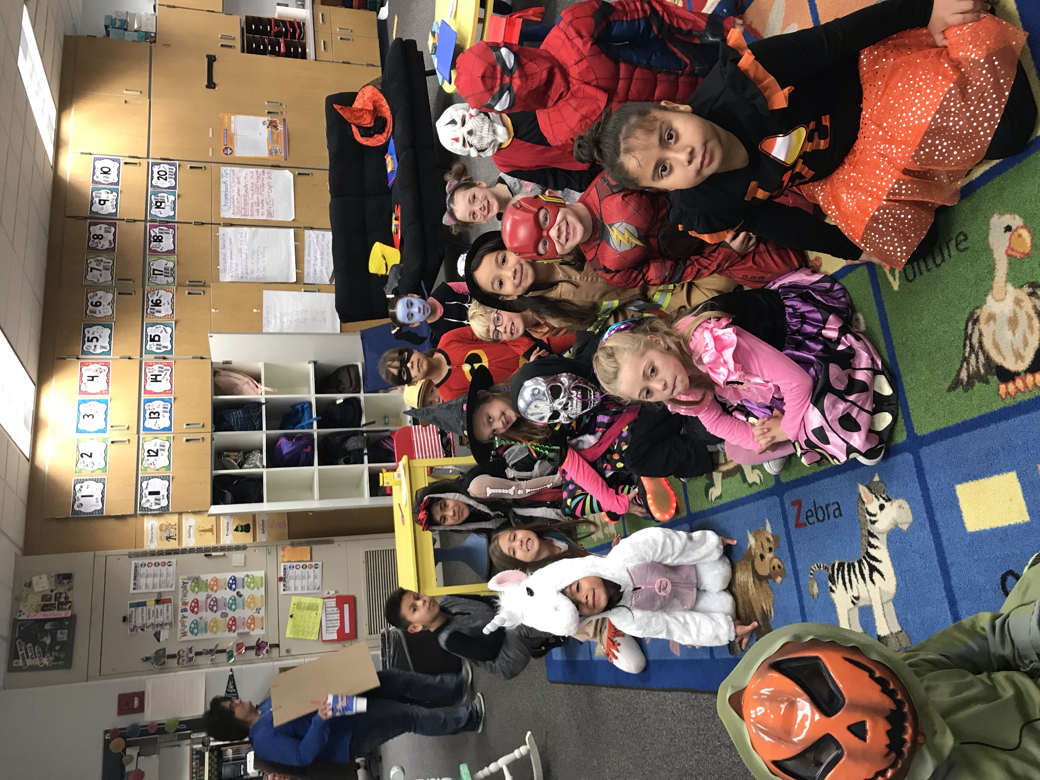 WNP students dressed for Halloween