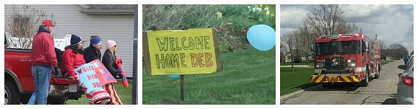 Welcome Home Deb!