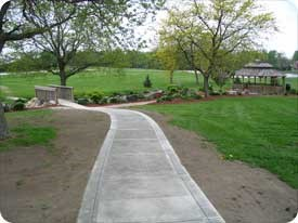 New, handicap accessible pathway to the Memorial Gardens.