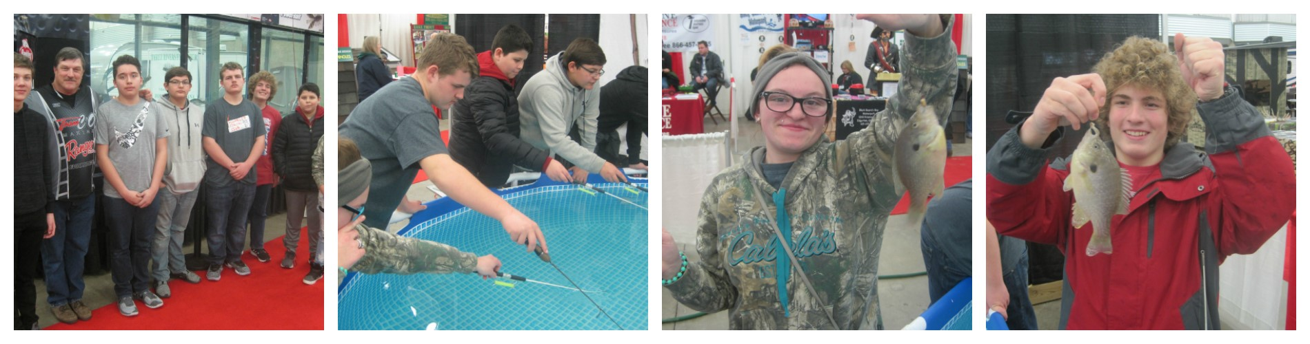 8th Grade Charger Fishing Club members traveled to the All-American Outdoor Expo in Ft. Wayne on January 25th.