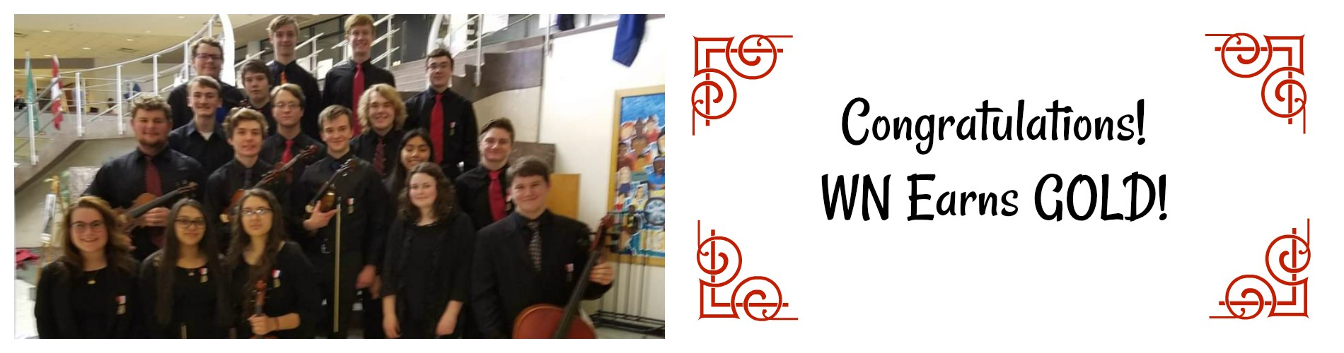 String members earn gold at contest.