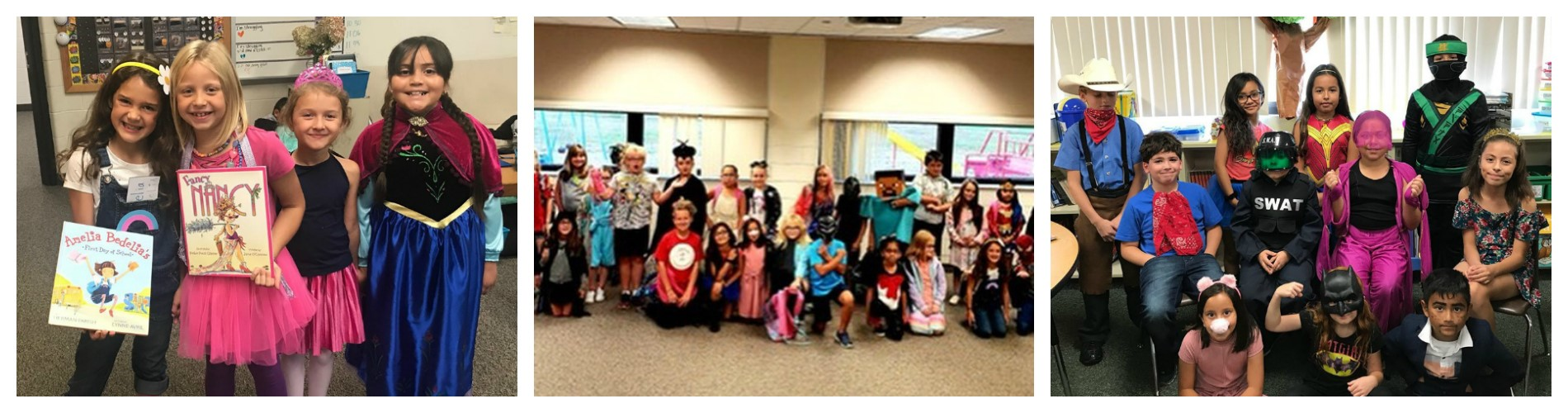 WNE - Students and staff dress like characters.