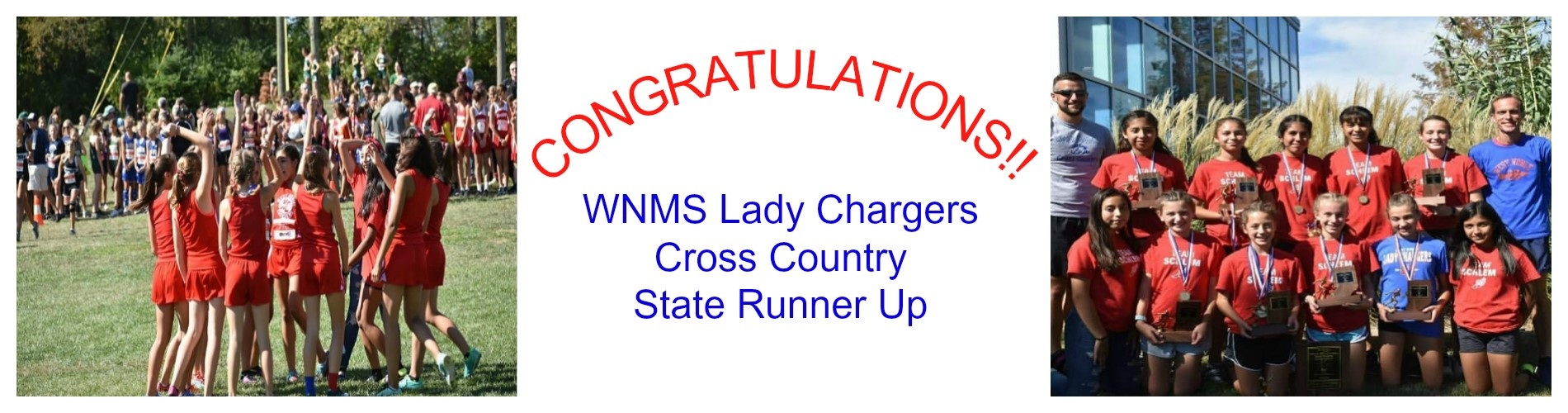 MS girls Cross Country State Runner Up.