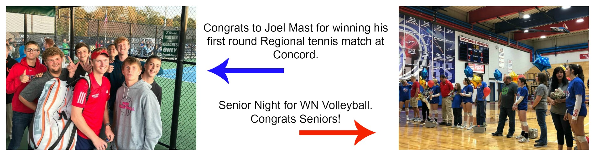 Senior Volleyball night.