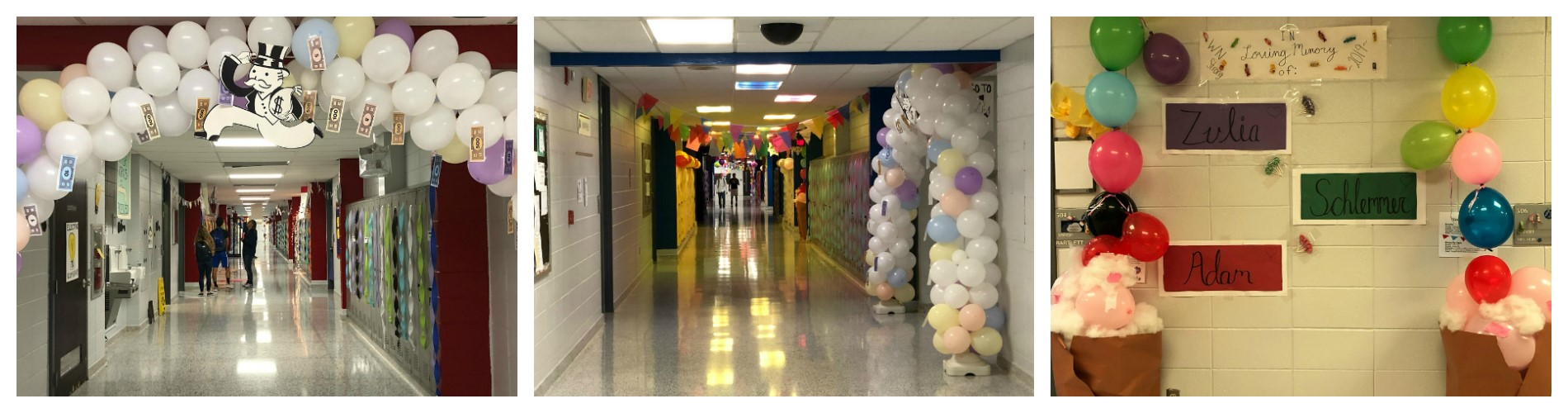 Homecoming hall decorating.