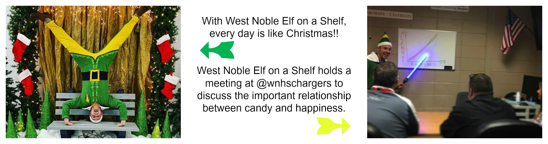 West Noble Elf on a Shelf.
