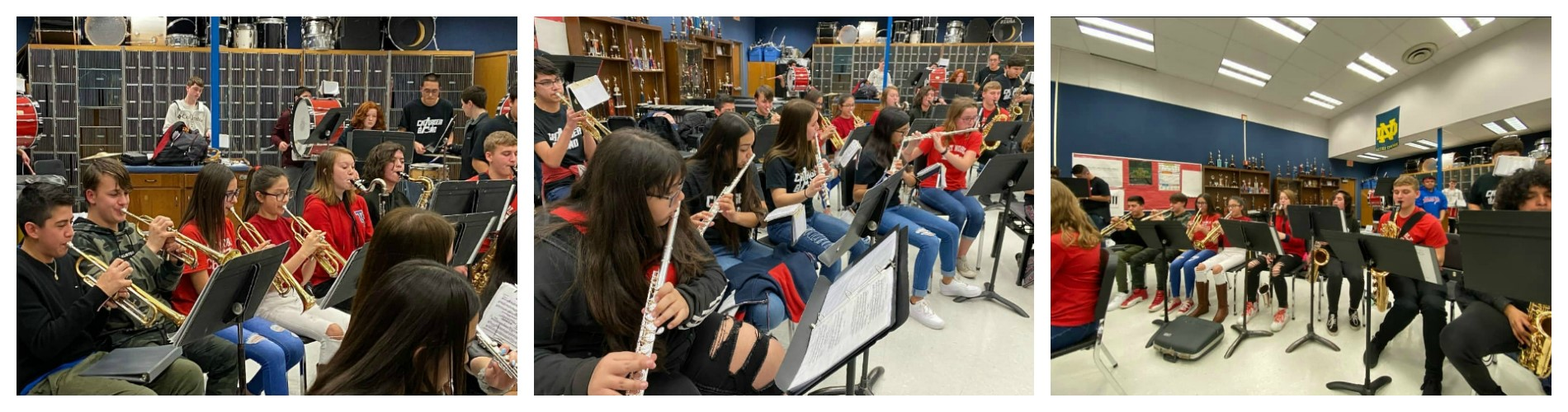 8th-grade band members help perform at high school