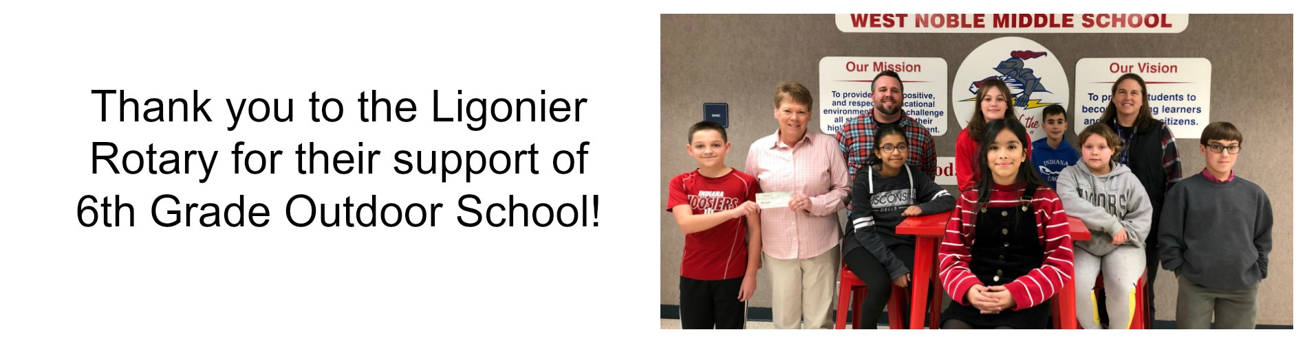Ligonier Rotary Supports 6th Grade Outdoor School!