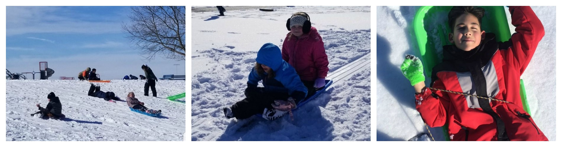 A beautiful day for sledding.