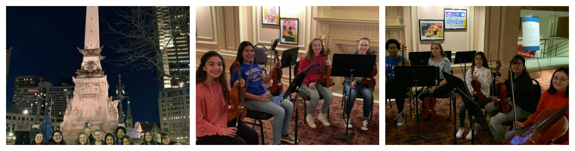 8th Grade Orchestra performs in Indy.