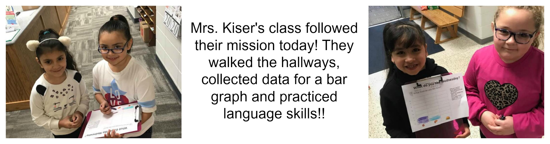 Mrs. Kiser's class on a mission